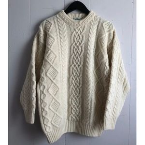 Blarney Woolen Mills Cable Fisherman Sweater Sz M